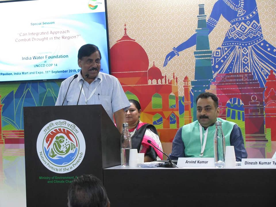 Sh. U.P. Singh, Secretary, Dept. of Water Resources, RD & GR, Ministry of Jal Shakti, presiding over the Special Session, Can Integrated approach Combat Drought In The Region, organized by India Water Foundation at India Expo Mart, Greater Noida.