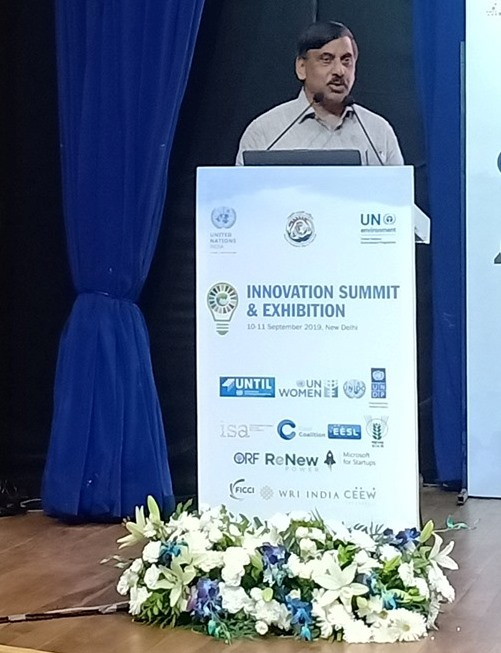 Shri U P Singh, Secretary, DoWR, RD & GR, Ministry of Jal Shakti attended Innovation Summit held on 10th & 11th September 2019 at Dr. Ambedkar International Centre, New Delhi